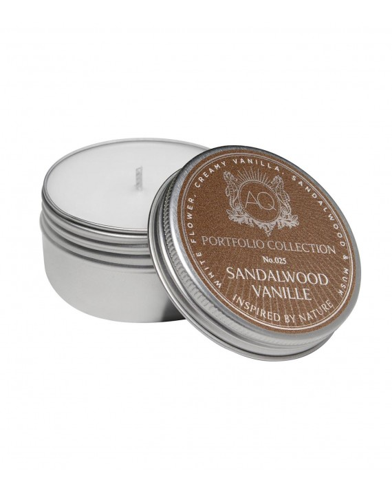 SANDALWOOD VANILLE~Soy Travel Tin Candle