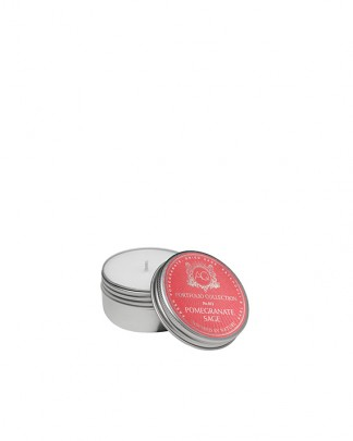POMEGRANATE SAGE~Soy Travel Tin Candle