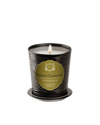 BAMBOO TEAKWOOD~Luxe Tin Candle