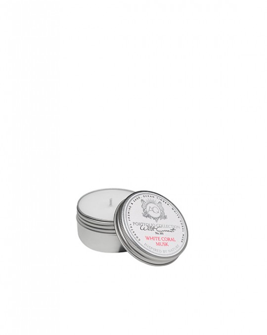 WHITE CORAL MUSK~Soy Travel Tin Candle