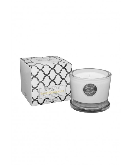 WHITE GINGER LILY~Small Soy Candle/Gift Box