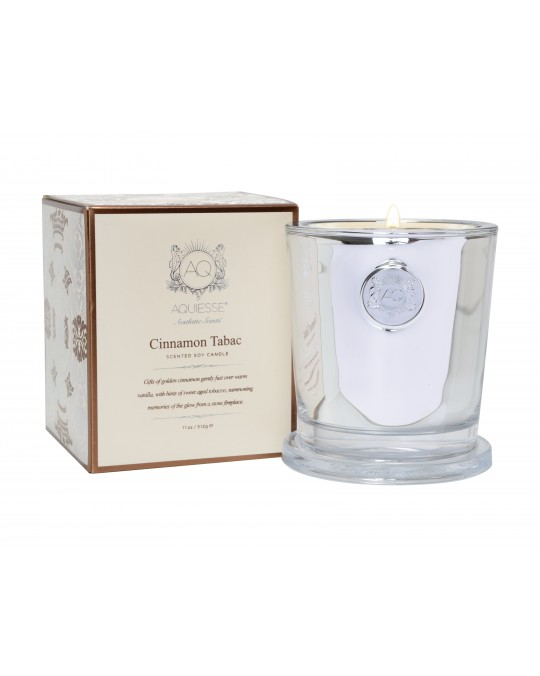 CINNAMON TABAC~Large Candle in Gift Box