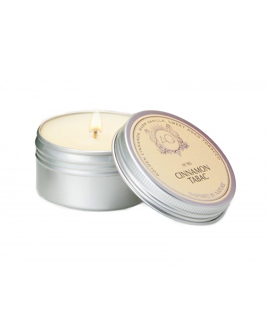 CINNAMON TABAC ~ Soy Travel Tin Candle