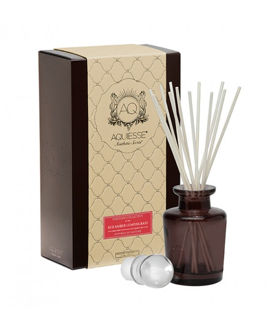 RED AMBER LEMONGRASS~Apothecary Reed Diffuser Gift Set