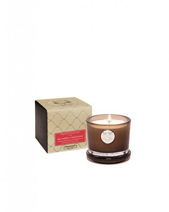 RED AMBER LEMONGRASS~Small Soy Boxed Candle